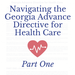 Georgia Advance Directive for Health Care part 1