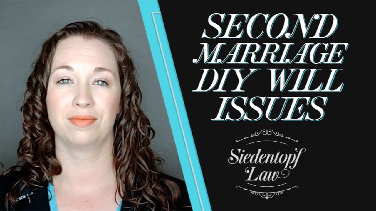 Second marriage DIY Will